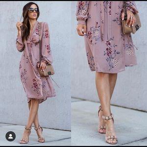 ASTR A line mauve dress